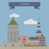 Mannheim, city in Germany Stock Image