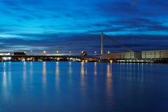 Mannheim e Ludwigshafen sul Reno fotografia stock