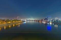 Mannheim e Ludwigshafen sul Reno immagini stock
