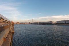 Mannheim e Ludwigshafen sul Reno fotografia stock libera da diritti