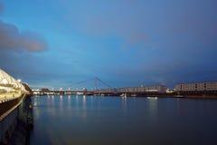 Mannheim e Ludwigshafen sul Reno immagine stock libera da diritti