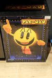 Pac-man video game. Mannheim, Germany - August 23, 2017: Pac-man video game, a popular video game from the 1980`s is popular with collectors and retro gamers Stock Photos