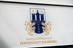 Wirtschaftskanzlei Hansestadt Hamburg. Mannheim, Germany - August 23, 2017: Symbol of the German company WKHH Wirtschaftskanzlei Hansestadt Hamburg Royalty Free Stock Image