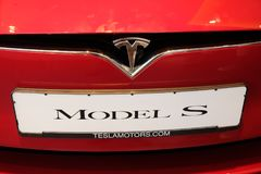Tesla Model S electric car royalty free stock photography