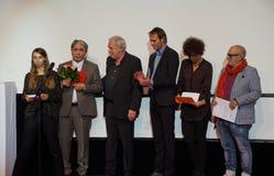 Director Sabit Kurmabekov 2nd.f.l. at the Internationales Filmfestival Mannheim-Heidelberg 2017. Mannheim/Heidelberg, Deutschland, 2017-11-18. Der Special Stock Photography