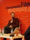 Edon Rizvanolli at the Internationales Filmfestival Mannheim-Heidelberg 2017. Mannheim/Heidelberg, Deutschland, 2017-11-16. Regisseur Edon Rizvanolli erzählt Royalty Free Stock Photos