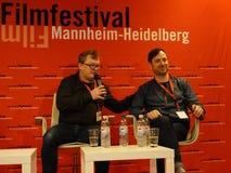 Director Andres Maimik l and Mainactor Rain Tolk r at the Internationales Filmfestival Mannheim-Heidelberg 2017. Mannheim/Heidelberg, Germany, 2017-11-11 Royalty Free Stock Image
