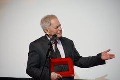 István Szabó at the Internationales Filmfestival Mannheim-Heidelberg 2017. Mannheim/Heidelberg, Germany, 2017-11-12. István Szabó is awarded as Royalty Free Stock Photos