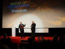 István Szabó at the Internationales Filmfestival Mannheim-Heidelberg 2017. Mannheim/Heidelberg, Germany, 2017-11-12. István Szabó l is awarded as Royalty Free Stock Photography