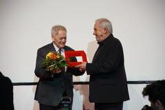 István Szabó at the Internationales Filmfestival Mannheim-Heidelberg 2017. Mannheim/Heidelberg, Germany, 2017-11-12. István Szabó l is awarded as Stock Images