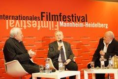 István Szabó m at the Internationales Filmfestival Mannheim-Heidelberg 2017. Mannheim/Heidelberg, Germany, 2017-11-12. István Szabó m at the Q&A Royalty Free Stock Images