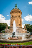 Mannheim Wasserturm Arkivbilder