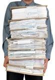 Mannholdingkatalog der Dokumente Lizenzfreies Stockbild