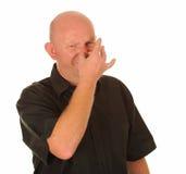 Mannholdingwekzeugspritze für Geruch stockfoto