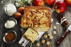 Mannick με τα μήλα Στοκ Εικόνες