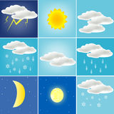 Mannigfaltiges Wetter Stockfoto