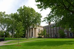 Manning Hall, Brown University, Providence, RI, USA. Manning Hall is a neo-Greek style building in Brown University, Providence, Rhode Island, USA. This building royalty free stock photography