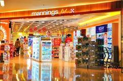 Mannings más la tienda, Hong-Kong Imagen de archivo