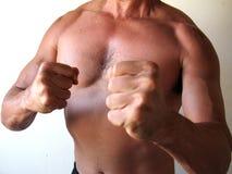 Mannkämpfer Stockfoto