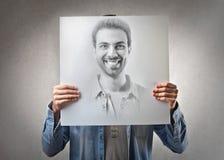 Mannlächeln lizenzfreie stockfotografie