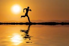 Mannlack-läufer Lizenzfreies Stockfoto