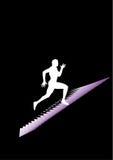 Mannlack-läufer Stockfotografie