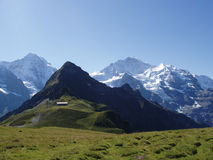Mannlichen die Schweiz lizenzfreie stockfotografie