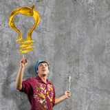 Mannmaler Stockfotografie