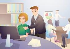 Mannmentor innerhalb des Büros Lizenzfreie Stockfotos