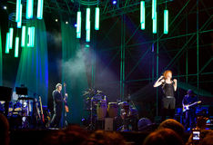 mannoia της Fiorella συναυλίας στοκ φωτογραφία με δικαίωμα ελεύθερης χρήσης