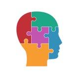 Mannprofil von Puzzlespielen Lizenzfreie Stockfotografie