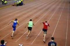 Mannrennen Stockfoto