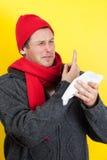 Mannsammelnwekzeugspritze Lizenzfreie Stockbilder
