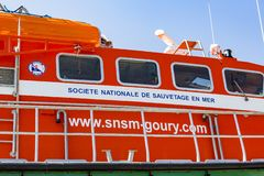 Mannschaft des Lebenrettungsboots lizenzfreie stockfotografie