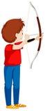 Mannschießen mit Pfeil und Bogen lizenzfreie abbildung