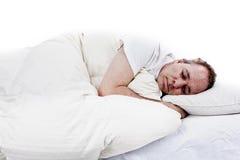 Mannschlafen Lizenzfreie Stockfotos