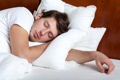 Mannschlafen Stockbilder
