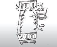 Mannschlafen vektor abbildung