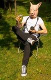 Mannschwein-Fotograffeiern Lizenzfreie Stockfotos