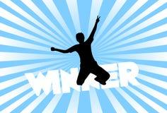 Mannsieger des Lotteriespiels Lizenzfreie Stockfotos