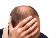 Mannsorgen Stockfoto
