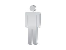 Mannsymbol 3d lizenzfreie abbildung