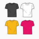 Mannt-shirt Schablonenvektor Stockbild