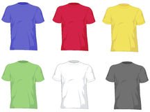 Mannt-shirts stock abbildung