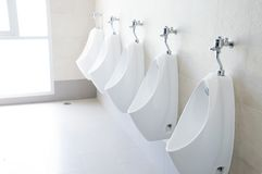 Manntoilette Stockbild