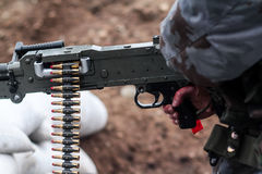 Manntrieb von der Waffe Lizenzfreies Stockfoto