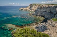 Mannu udde, Sardinia Arkivbild
