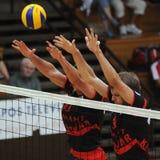 Mannvolleyballkonkurrenz Lizenzfreie Stockfotos