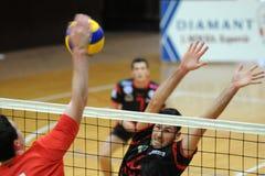 Mannvolleyballkonkurrenz Lizenzfreies Stockfoto