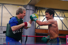 Manny Pacquiao Training Royalty Free Stock Photo